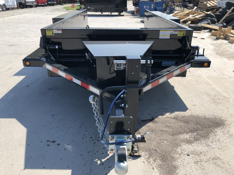 2020 B-B 76x14 TA HDT1414E Equipment Trailer - Drop Down Axles - 2 Foot Sides (GVW:  14000)