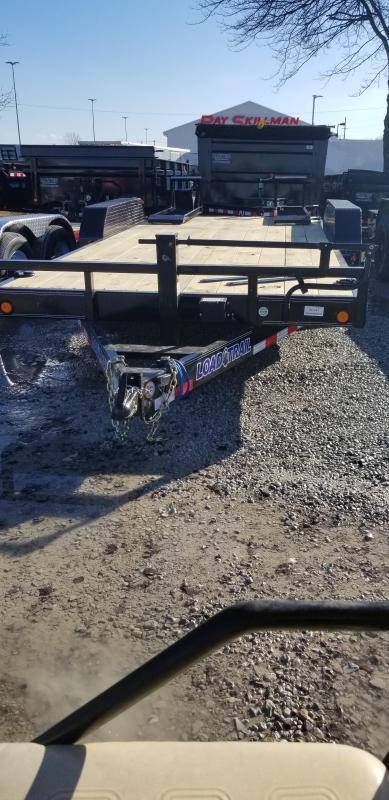 "2019 83x18 (16+2) Load Trail 83"" X 18' Tandem Axle Carhauler Car / Racing Trailer - Fold Up Ramps (GVW:  14000)"