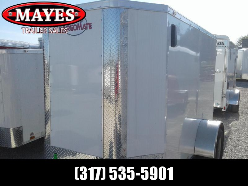 "2019 5x8 Cargo Mate EHW508SA Enclosed Cargo Trailer - White (RD)(GVW: 2990)(6"" Extra Height)"
