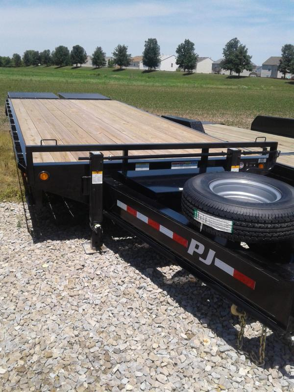 2019 102x25(20+5' Dovetail) PJ Trailers FD Classic Pintle with Duals Trailer - w/ 2 Flip-over Monster Ramps (GVW: 25000)
