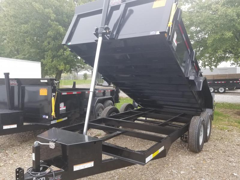 2018 82x14 Force by Forest River Inc. HDL6814TA5 Dump Trailer - w/ Ramps & Split/Spreader Gate (GVW: 14000)(Telescopic Hoist)