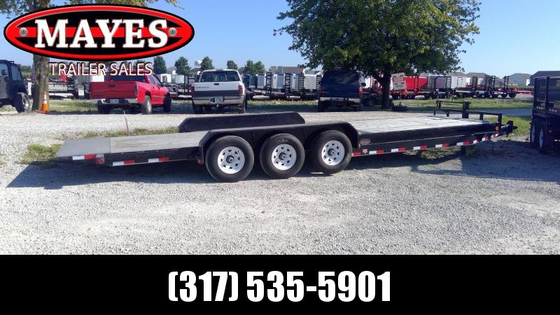 Used 2018 26' TA Tilt PJ Trailers T7263 Equipment Trailer - Pintle - Torsion (GVW:  21000)