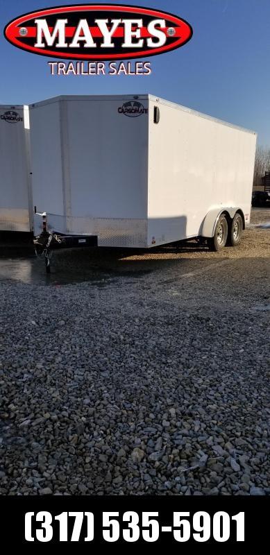 2019 7x16 Cargo Mate EHW716TA2 Enclosed Cargo Trailer - Ramp Door - Side Door (GVW:  7000#)