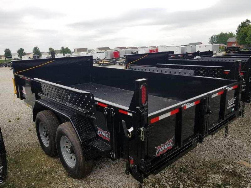 2019 82x14 Force by Forest River Inc. HDL6814TA5 Dump Trailer - (Split/Spreader Gate)(Ramps) (GVW: 14000) *Telescopic Hoist*