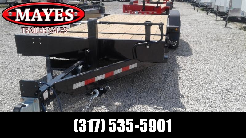 2020 20 Foot (4+16) TA Tilt B-B TBCT2014ET Equipment Trailer - Pallet Fork Holders - Side Lock-Out Valve - D-Rings (GVW:  14000)