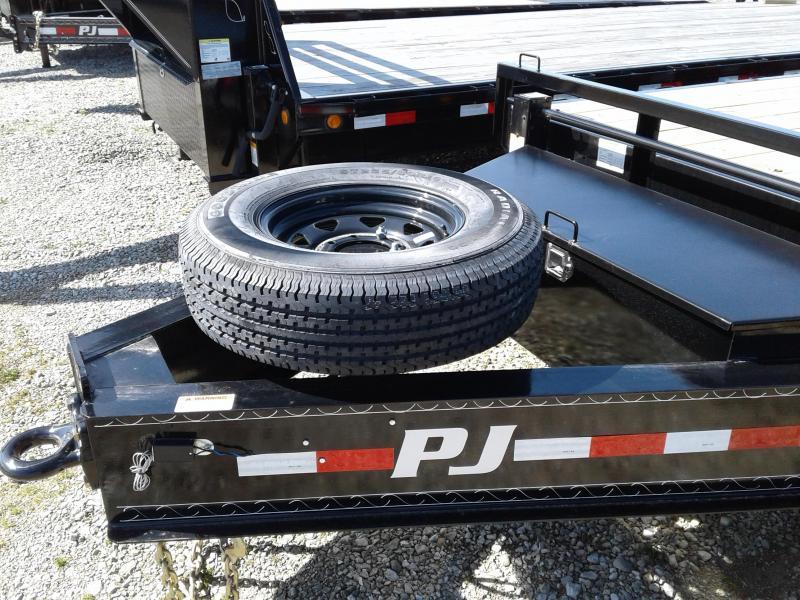 2018 102x25(20+5' Dovetail) PJ Trailers FS Trailer - w/ 2 Flip-over Ramps (GVW: 15680)(Black Spoke Wheels)