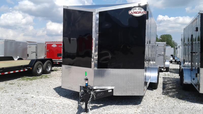 2020 7x16 TA Cargo Mate EHW716TA2 Enclosed Cargo Trailer - Ramp Door - 6 Inch Additional Height - Side by Side Pkg. (GVW:  7000)