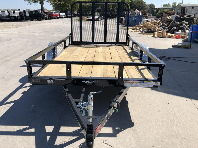 2020 72x10 SA PJ Trailers U2101 Utility Trailer - Straight Deck - 4 Foot Fold Up Gate (GVW:  2995)