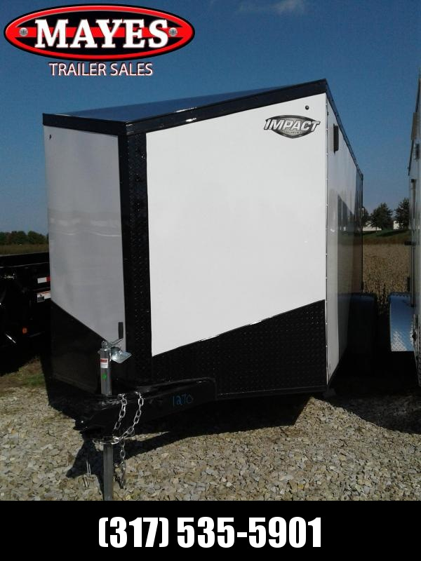 2019 7x14 Impact Trailers ITB714TA Enclosed Cargo Trailer - White/Charcoal - Ramp Door (GVW:  7000#)
