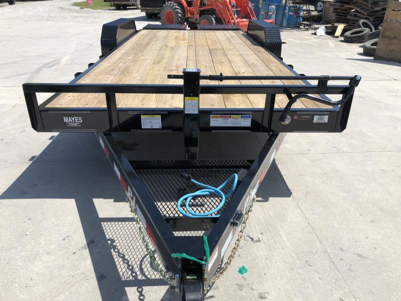2020 20 Foot (16.5+3.5) TA PJ Trailers CC202 Equipment Trailer - Monster Ramps (GVW:  14000)
