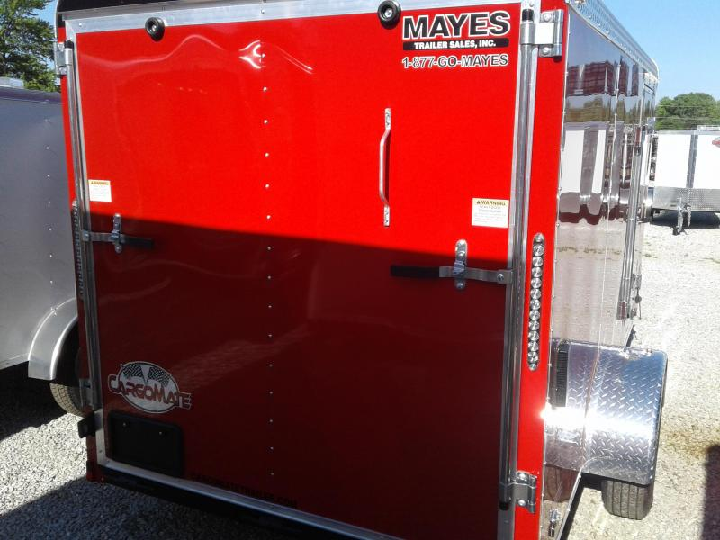 2019 6x12 Cargo Mate BL612SA Enclosed Cargo Trailer - Red (RD)(GVW: 2990)