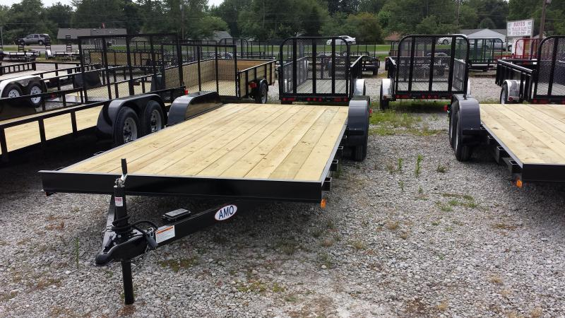 2018 82x20(16+4' Dovetail) American Manufacturing Operations AF20TTBBXWRDN Car / Racing Trailer - w/ 5' Slide-out Ramps (GVW: 7000)
