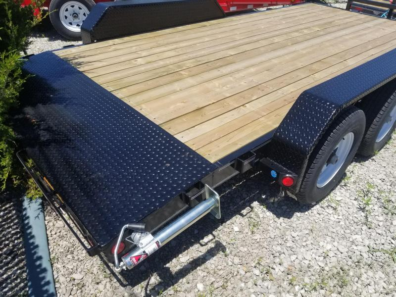 "2019 83x16(14+2' Dovetail) PJ Trailers CE 5"" Channel Equipment Trailer - w/ 5' Rear Slide-in Ramps (GVW: 9899)"