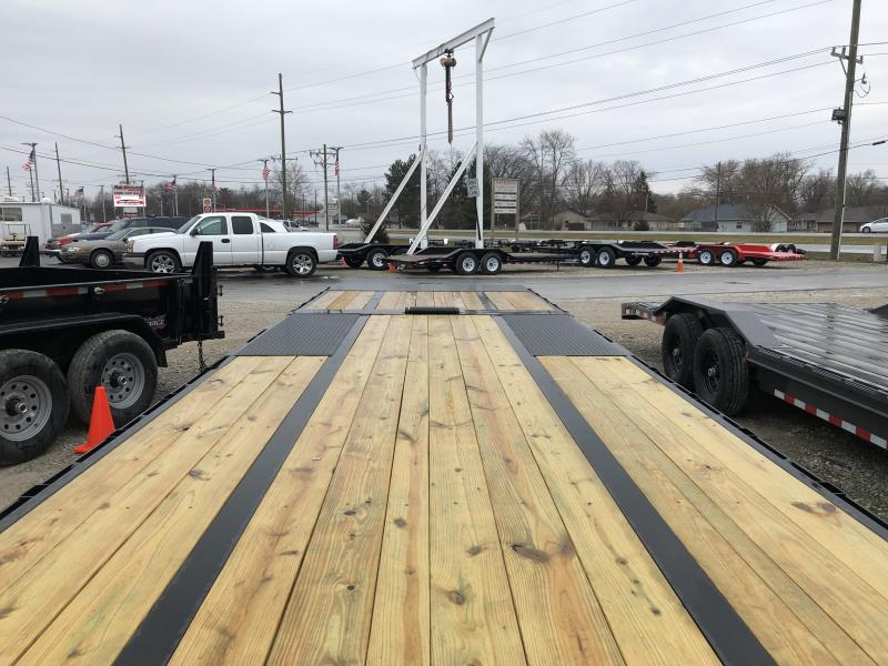 2019 102x30(20'+10' Hydraulic Dovetail) PJ Trailers LY302 Equipment Trailer - Hydraulic Dove - Winch Plate and Roller (GVW:  25000)