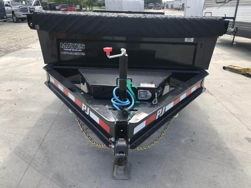 2020 83x14 TA PJ Trailers DL142 Dump Trailer - Split/Spread Gate - Tarp Kit (GVW:  14000)