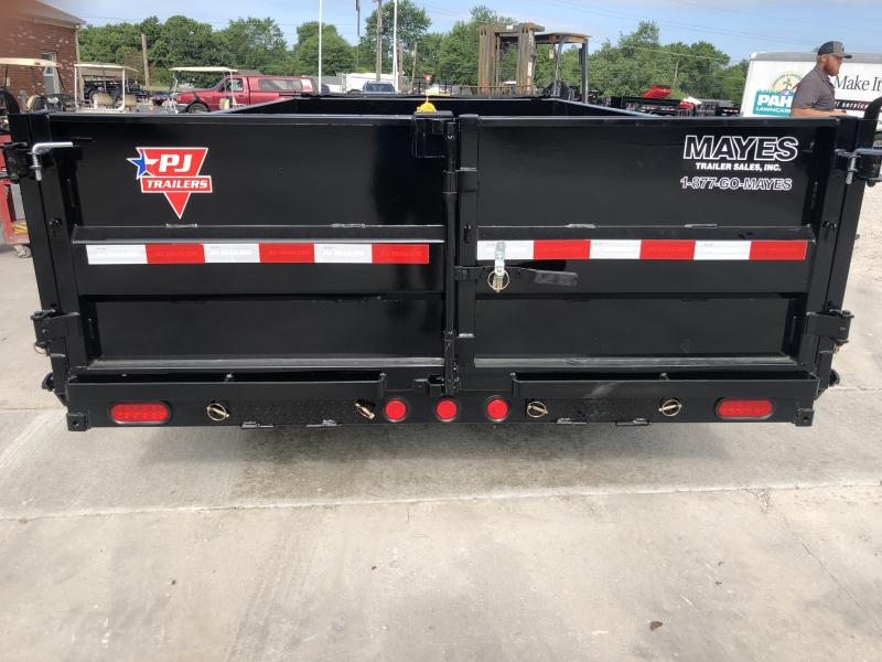 2020 83x14 TA PJ Trailers DL142 Dump Trailer - Split/Spread Gate - Tarp Kit (GVW:  14000)