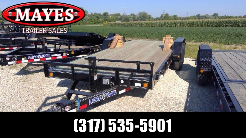 2019 83x20 (18+2) TA Load Trail CH8320072 Car / Racing Trailer - Rear Slide In Ramps - Diamond Plate Fenders (GVW:  14000)