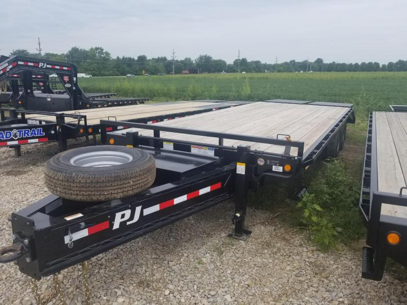 2019 102x25(20+5' Dovetail) PJ Trailers PD Classic Pintle with Duals Trailer - w/ 2 Flip-over Monster Ramps (GVW: 25000)