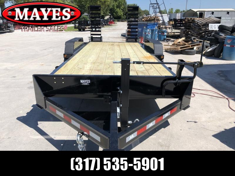 2020 20 Foot (18+2) TA B-B CBCT2016E-S Equipment Trailer - D-Rings - Flip Up Ramps - Slipper Spring Suspension (GVW:  16000)