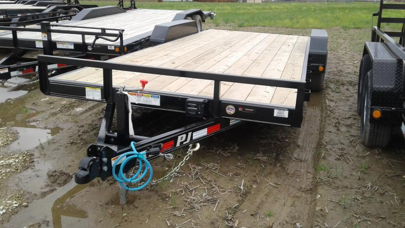 2020  83x20(18+2) PJ Trailers Equipment - w/ 5' Rear Slide-in Ramos (GVW: 9899)