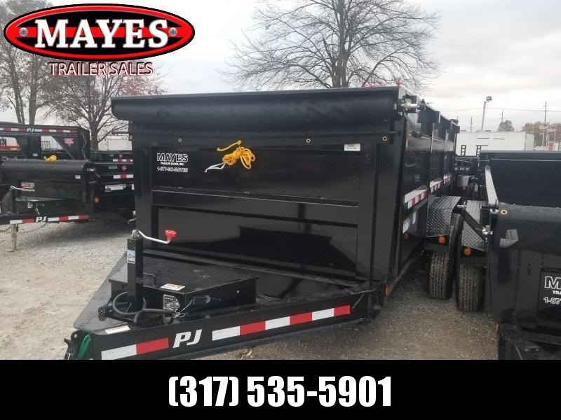 2019 83x14 Low Pro High Side PJ Trailers DM142 Dump Trailer - Tarp Kit (GVW:  14000)