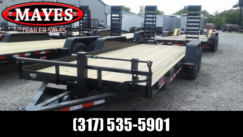 2020 20' Angle Iron B-B BCT2014E Equipment Trailer - 5 Foot Flip Up Ramps (GVW:  14000)