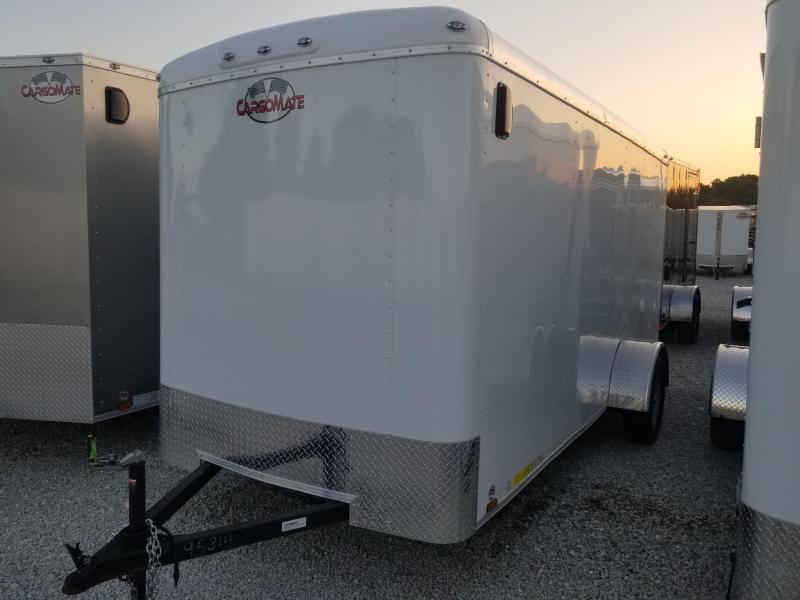 """2018 6x14 Cargo Mate BL614SA Enclosed Cargo Trailer - Polar White (RD)(GVW: 2990)(6"""" Extra Height)"""