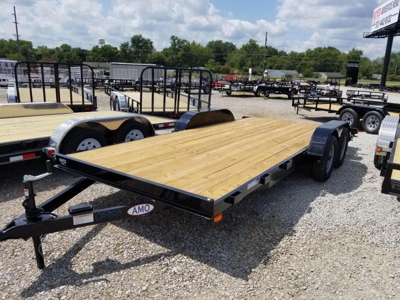 2018 82x20(18+2 Dovetail) American Manufacturing Operations A9918CE Equipment Trailer - w/ Fold-up Ramps (GVW: 9990)