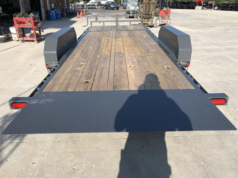 2020 83x16 Foot (14+2) TA PJ Trailers T6202 Equipment Trailer - Dovetail - 5 Foot Fold Up Ramps (GVW:  14000)