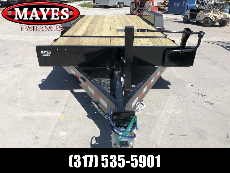 2020 20 Foot (4+16) Tilt B-B TBCT2016ET Equipment Trailer - D-Rings - Pallet Fork Holder - Flush Deck - Side Lock-Out Valve (GVW:  16000)