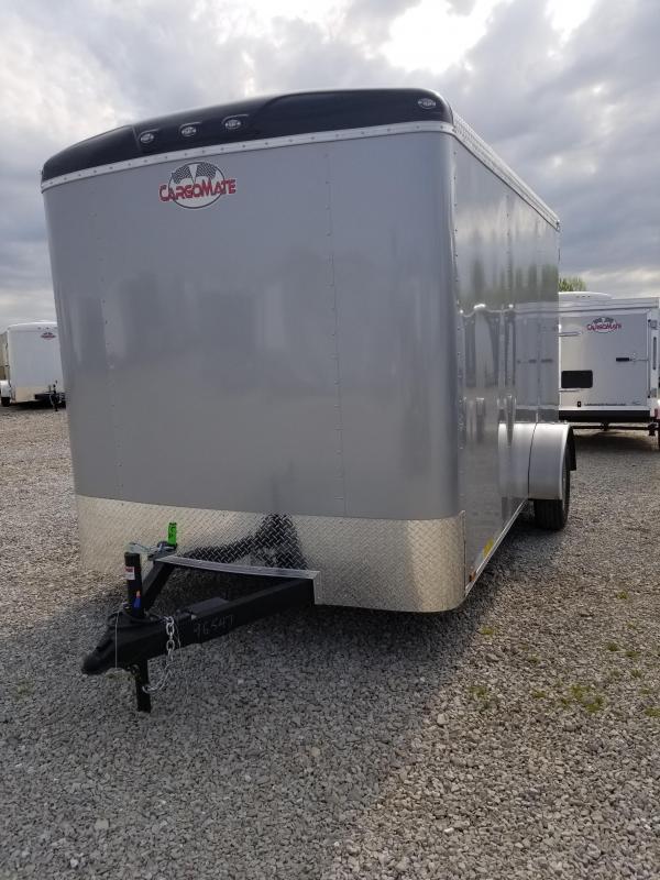 2019 7x12 Cargo Mate BL712SA Enclosed Cargo Trailer - Diamond Ice (RD)(GVW: 3500)