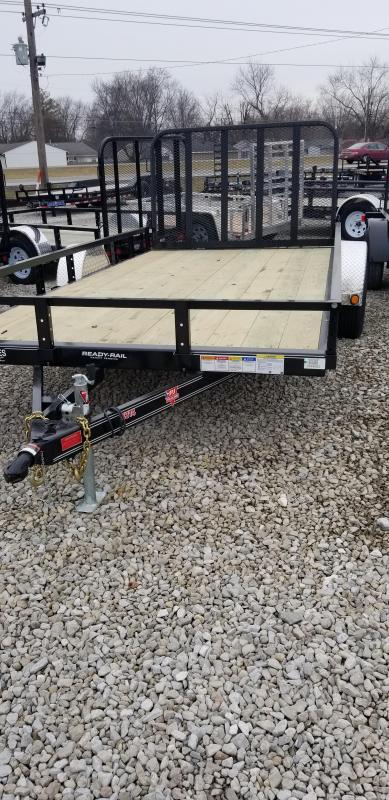 "2019 PJ Trailers 14'x83"" Single Axle Channel Utility Trailer - Rear Gate (GVW:  2995)"