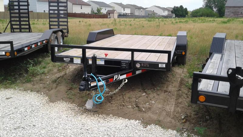 "2020 16' (14+2) PJ Trailers 16'x5"" Channel Equipment Trailer - Slide In Ramps (GVW:  9899)"