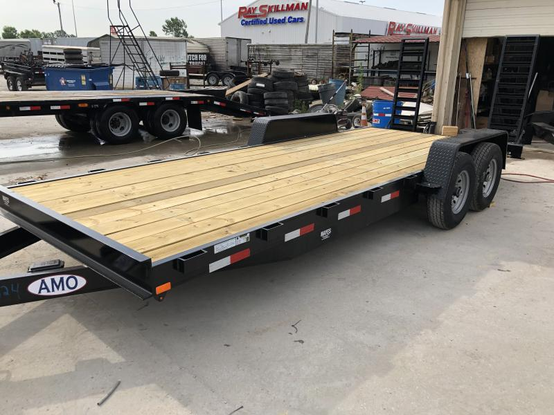 2019 82x20 12000 # American Manufacturing Operations (AMO) UH202 Equipment Trailer