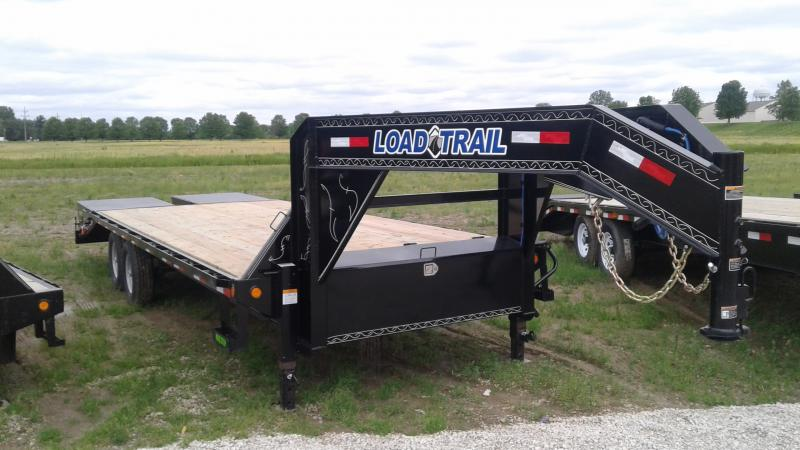 2019 102x25 (20+5) TA Load Trail GH0225072 Equipment Trailer - 5' Self Clean Dove - Max Ramps (GVW:  14000)