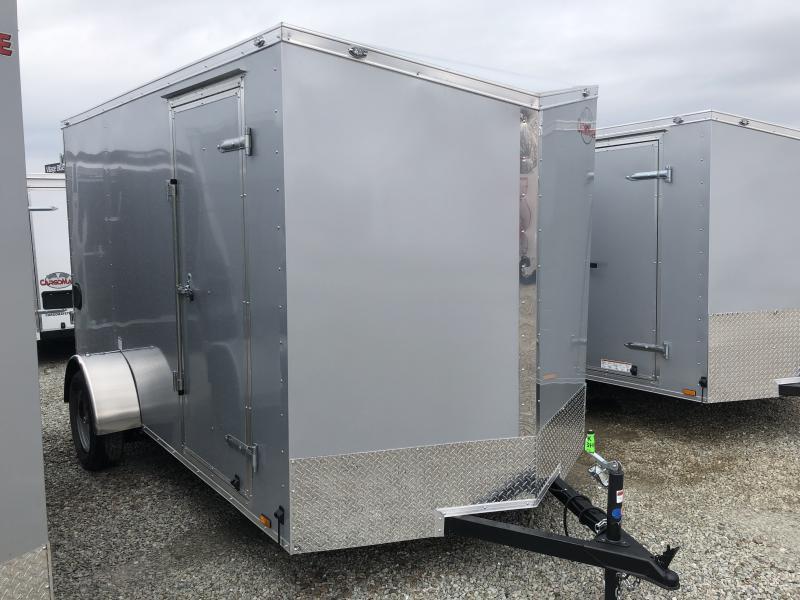 "2019 6.5x12 Cargo Mate EHW612SA Enclosed Cargo Trailer - Diamond Ice (RD)(GVW: 2990)(6"" Extra Height)"