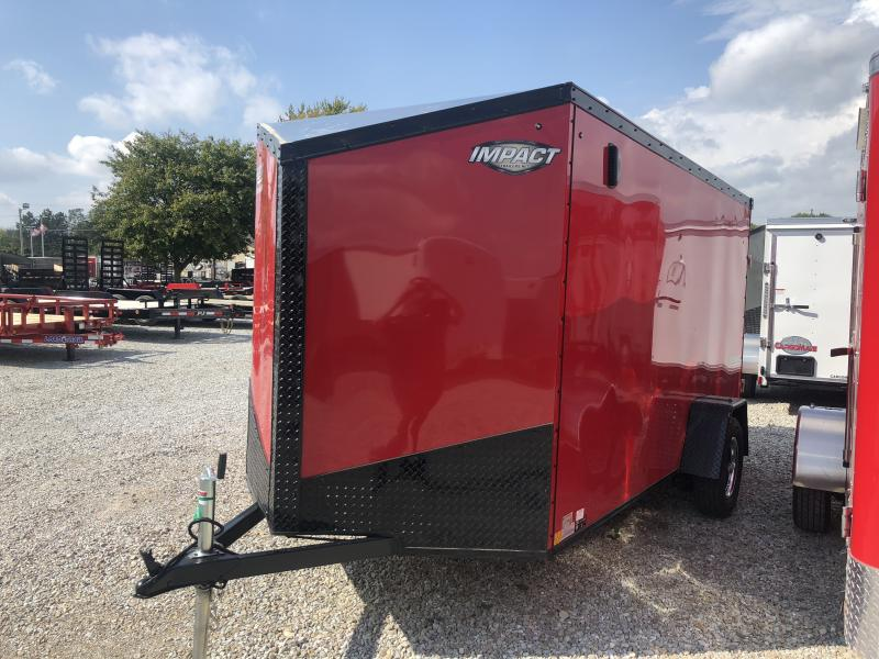 2019 6x12 Impact Trailers ITB612SA Enclosed Cargo Trailer - Red -Ramp Door (GVW:  2990#) in Ashburn, VA