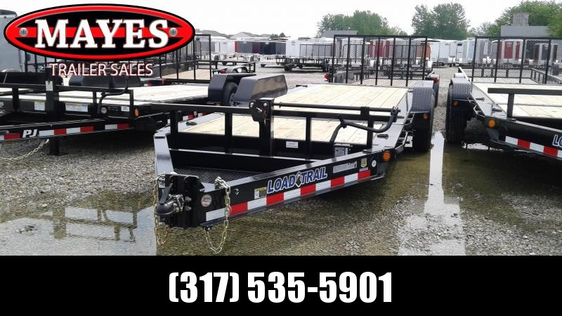 2019 83x20 (4+16) Tilt-N-Go Load Trail TH8320072 Equipment Trailer - D-Rings - Torsion Axle (GVW:  14000)