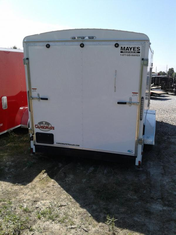 2019 7x16 Cargo Mate BL716TA2 Enclosed Cargo Trailer - Polar White (RD)(GVW: 7000)