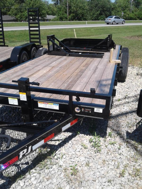 "2019 83x20(18+2' Dovetail) PJ Trailers CC 6"" Channel Equipment Trailer - w/ Split HD Gate (GVW: 14000)"