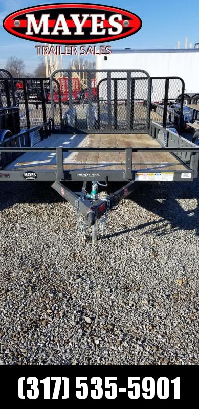 2019 83x12 PJ Trailers U8121 Utility Trailer - 4' Tailgate and ATV Ramps (GVW:  2995)