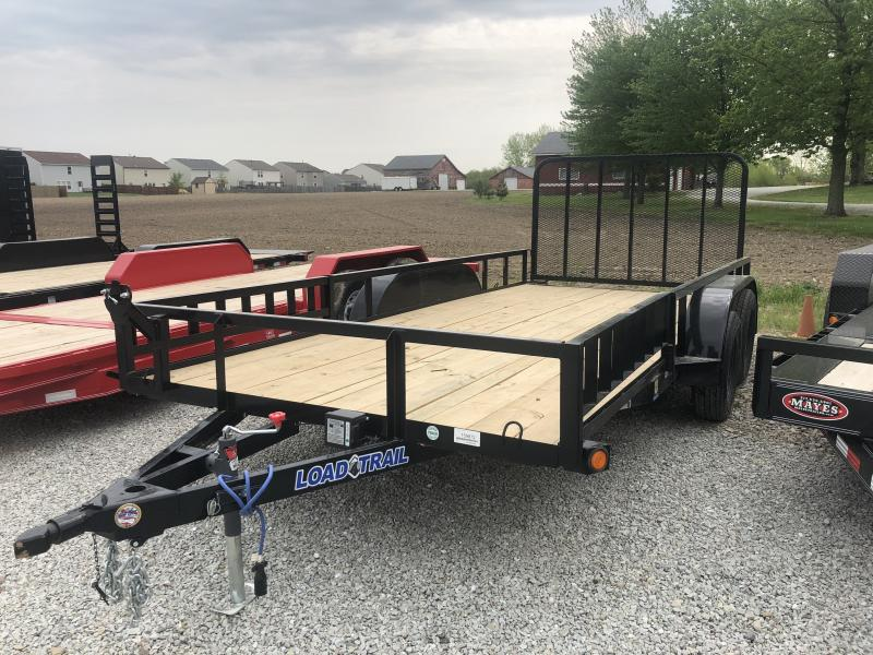 2018 83x16 Load Trail UE83 Utility Trailer - w/ 4' Spring Assist Gate (GVW: 7000)(ATV Ramps)