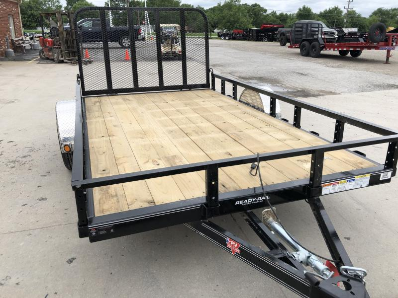 2020 83x12 PJ Trailers U8 Sngl Axle Channel Utility Trailer - Straight Deck w/ 4' Fold-up Gate (GVW: 2995)