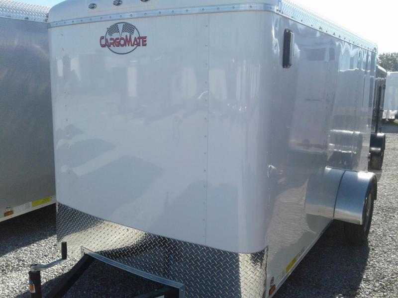 2019 6x12 Cargo Mate BL612SA Enclosed Cargo Trailer - White (DD)(GVW: 2990)