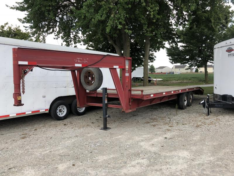 2000 102x24(20+4' Dovetail) Other USED Flatbed Trailer - w/ 4' Pop-up Dove Tail (GVW: 14000)