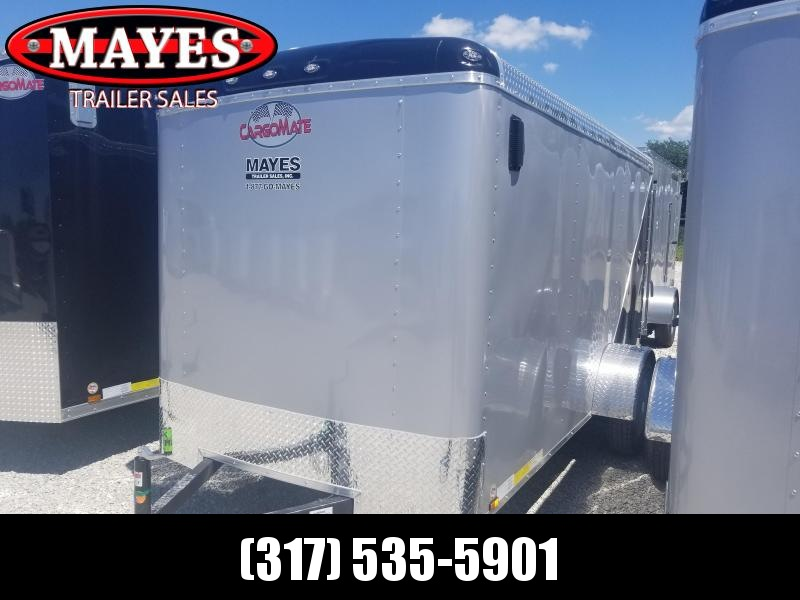 2018 6x12 Cargo Mate BL612SA Enclosed Cargo Trailer (RD)(Diamond Ice / Black)(GVW: 2990)