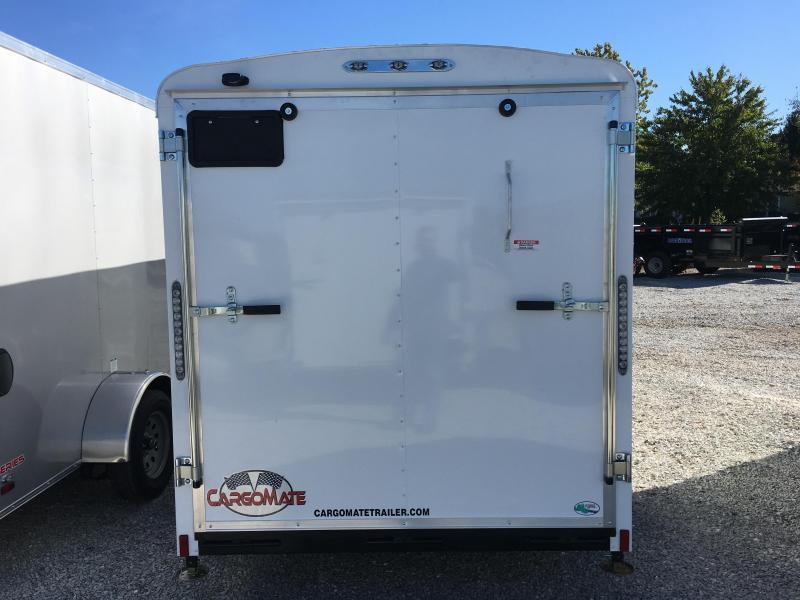 2019 6x12 Cargo Mate BL612SA Enclosed Cargo Trailer - Polar White (RD)(GVW: 2990)