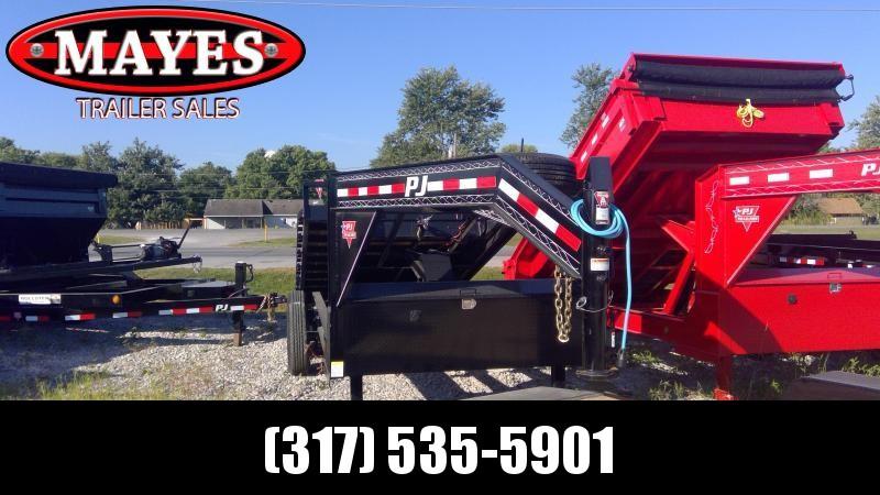 2020 14 Foot Rollster PJ Trailers DR142 Dump Trailer - Roll Off Dump - Gooseneck (GVW:  14000)