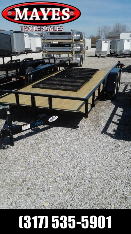 2019 76x18 (16+2) American Manufacturing Operations (AMO) UT182 Utility Trailer - Side Gate - 4' Tailgate (GVW:  7000) in Ashburn, VA
