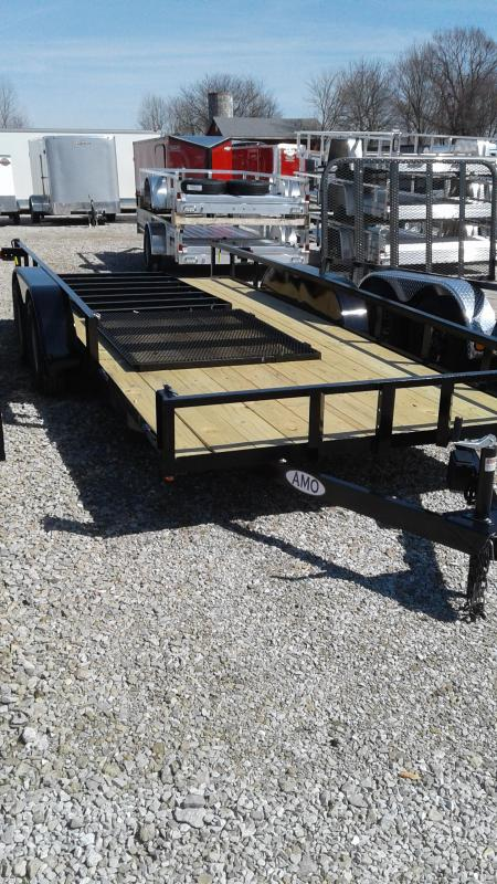 2019 76x18 (16+2) American Manufacturing Operations (AMO) UT182 Utility Trailer - Side Gate - 4' Tailgate (GVW:  7000)